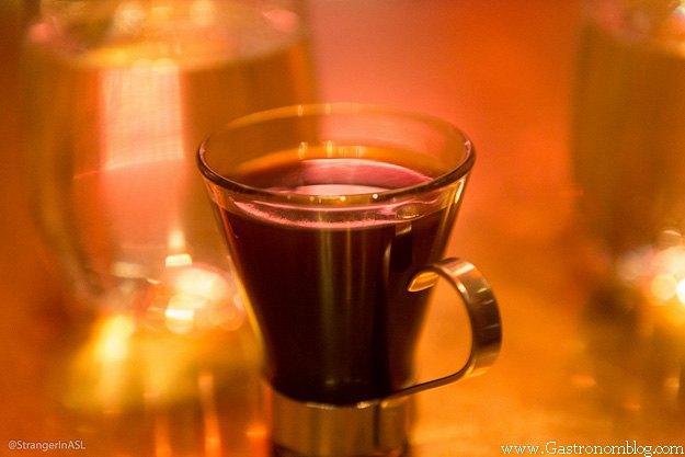 coffee cocktail in glass mug