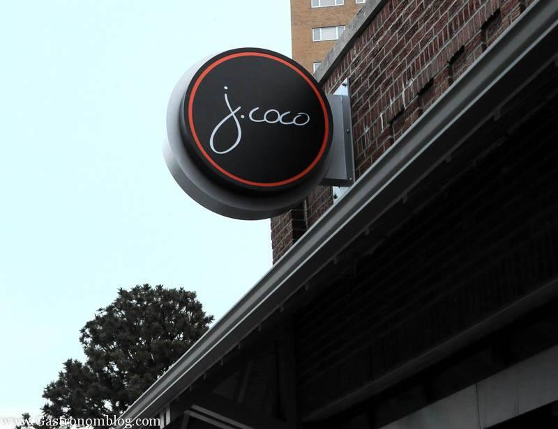 J Coco restaurant sign